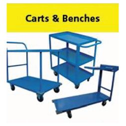 Handtrucks, wheel carts, pickers, ladders, handrails, etc.